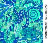 tracery seamless calming... | Shutterstock . vector #520583092