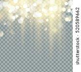 falling christmas shining... | Shutterstock .eps vector #520589662