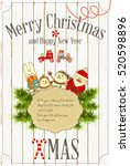 christmas and new year card.... | Shutterstock .eps vector #520598896