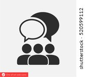 people talking  icon. one of... | Shutterstock .eps vector #520599112