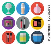 set of simple cosmetic flat... | Shutterstock .eps vector #520603996