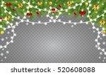 christmas balls and christmas... | Shutterstock .eps vector #520608088