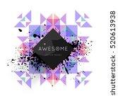 geometric background template... | Shutterstock .eps vector #520613938