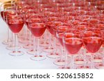 the glasses on the table. juice.... | Shutterstock . vector #520615852