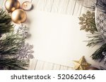 Christmas Background With Lamp...