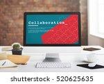 team work collaboration... | Shutterstock . vector #520625635