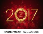 vector 2017 red glowing... | Shutterstock .eps vector #520628908