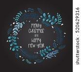 decorative wreath.... | Shutterstock .eps vector #520629316