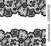 seamless lace border. vector...   Shutterstock .eps vector #520629526