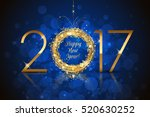 vector happy new year 2017...   Shutterstock .eps vector #520630252