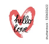 unique hand drawn greeting card ...   Shutterstock .eps vector #520632622