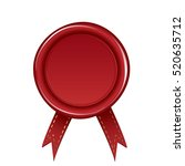 red wax seal isolated on white... | Shutterstock .eps vector #520635712