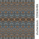 ethnic geometric shapes striped ... | Shutterstock .eps vector #520636486