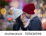 Christmas Couple In City Lights