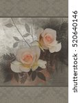artistic flower background | Shutterstock . vector #520640146