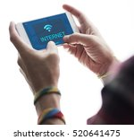 communication connection... | Shutterstock . vector #520641475