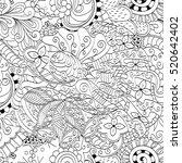 tracery seamless calming... | Shutterstock . vector #520642402