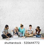 diversity students friends... | Shutterstock . vector #520644772