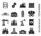 industry icons set. simple... | Shutterstock .eps vector #520646866