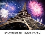 celebrating new year in the... | Shutterstock . vector #520649752