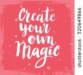 conceptual hand drawn phrase... | Shutterstock .eps vector #520649866
