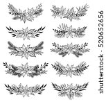 Hand Drawn Vector Set Of Winte...