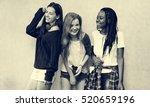 diverse group people meet up... | Shutterstock . vector #520659196
