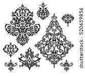 set of five ornate foliate and... | Shutterstock .eps vector #520659856