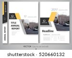 cover design annual report... | Shutterstock .eps vector #520660132