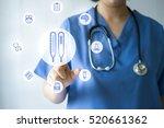 medicine doctor   nurse working ... | Shutterstock . vector #520661362