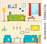 illustration set of interiors...   Shutterstock . vector #520661716