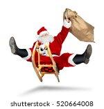 Crazy Santa Claus On His Sleigh ...