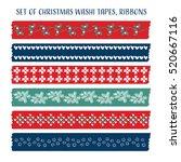 set of vintage christmas washi... | Shutterstock .eps vector #520667116