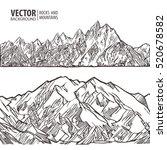 mountains ranges set vector
