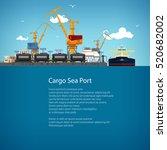 unloading oil or liquids from... | Shutterstock .eps vector #520682002