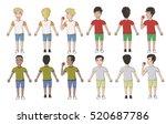 vector of multicultural men in... | Shutterstock .eps vector #520687786