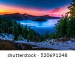 crater lake national park... | Shutterstock . vector #520691248