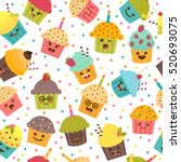birthday background. seamless... | Shutterstock .eps vector #520693075