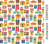 seamless pattern with colorful... | Shutterstock .eps vector #520693252