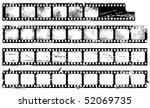 grunge filmstrips set | Shutterstock .eps vector #52069735