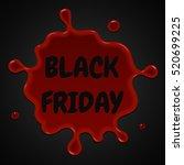 black friday sale red splash on ... | Shutterstock .eps vector #520699225