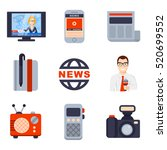 illustrations of flat icon set... | Shutterstock . vector #520699552
