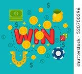 illustration of casino elements ... | Shutterstock . vector #520700296