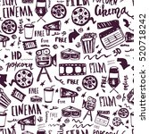 cinema hand drawn seamless...