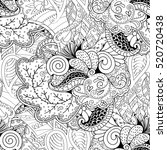 tracery seamless calming... | Shutterstock . vector #520720438