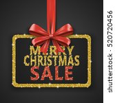 merry christmas sale shiny... | Shutterstock .eps vector #520720456