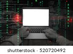 hacker at work with graphic... | Shutterstock . vector #520720492