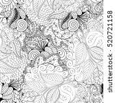 tracery seamless calming... | Shutterstock . vector #520721158