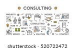 line concept for consulting.... | Shutterstock . vector #520722472
