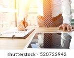 businessman analyzing financial ...   Shutterstock . vector #520723942